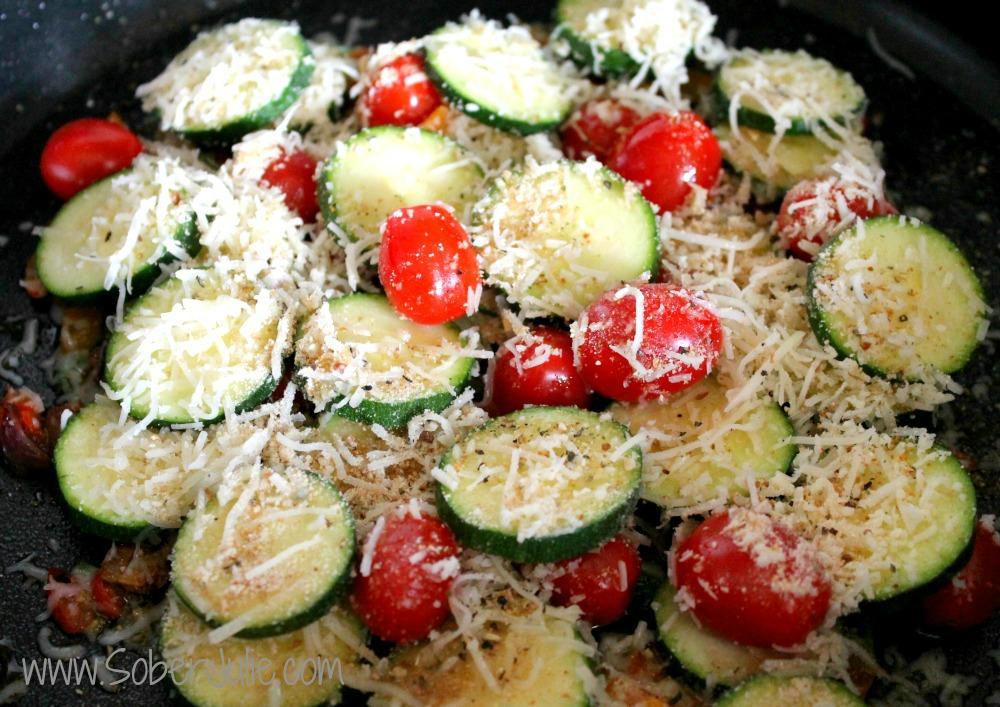 Zucchini Gratin in Pan
