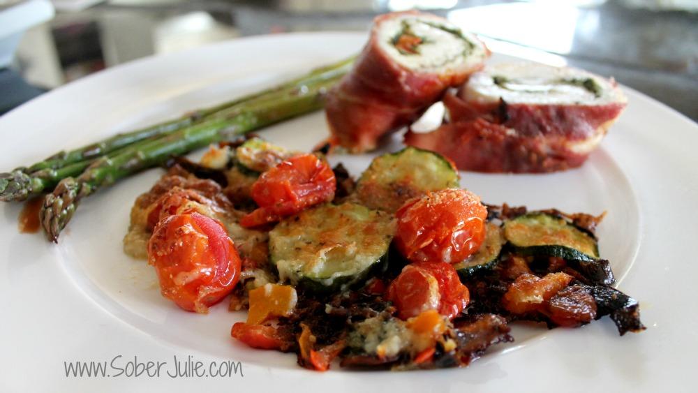 Zucchini Gratin plated