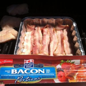 Maple Leaf Bacon on the grill Portions