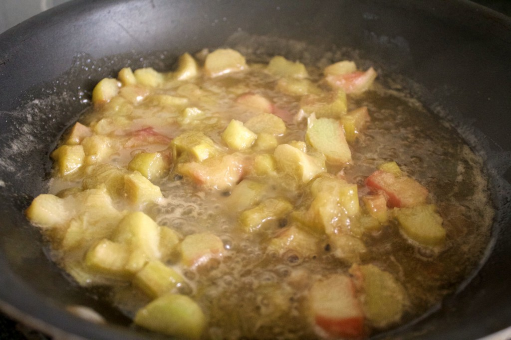Berry Rubarb Parfait Ingredients Simmering