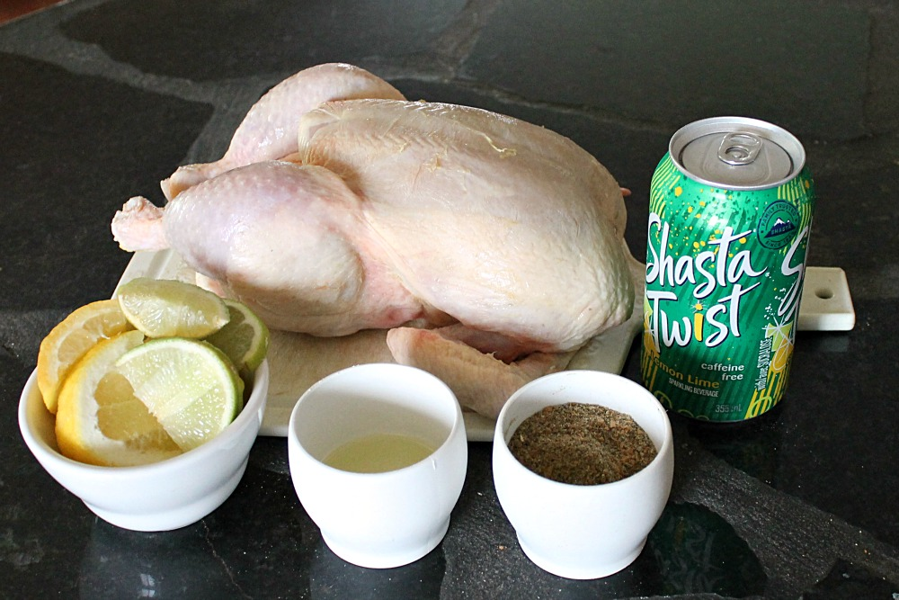 No Beer Can Chicken Ingredients Easy Chicken Recipe @SoberJulie.com