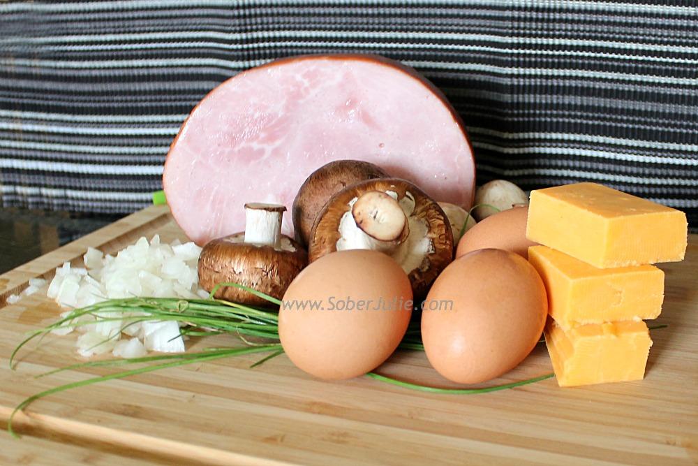 Quiche Recipe Ingredients @SoberJulie.com