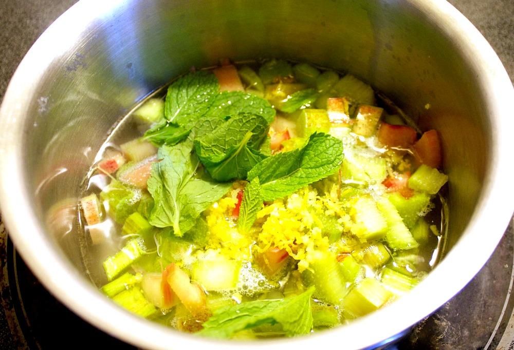 Strawberry Rhubarb Lemonade Ingredients
