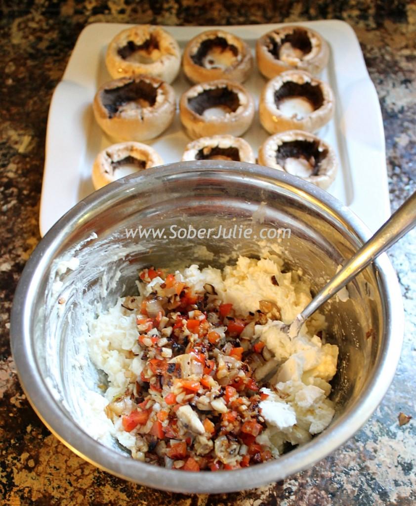 Stuffed Mushrooms Mix @SoberJulie.com