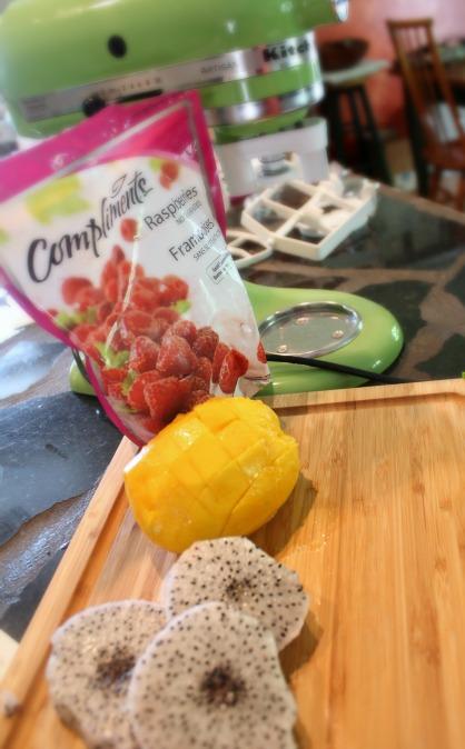 KitchenAid Ice Cream Maker Tropical Fruit Sorbet Ingredients