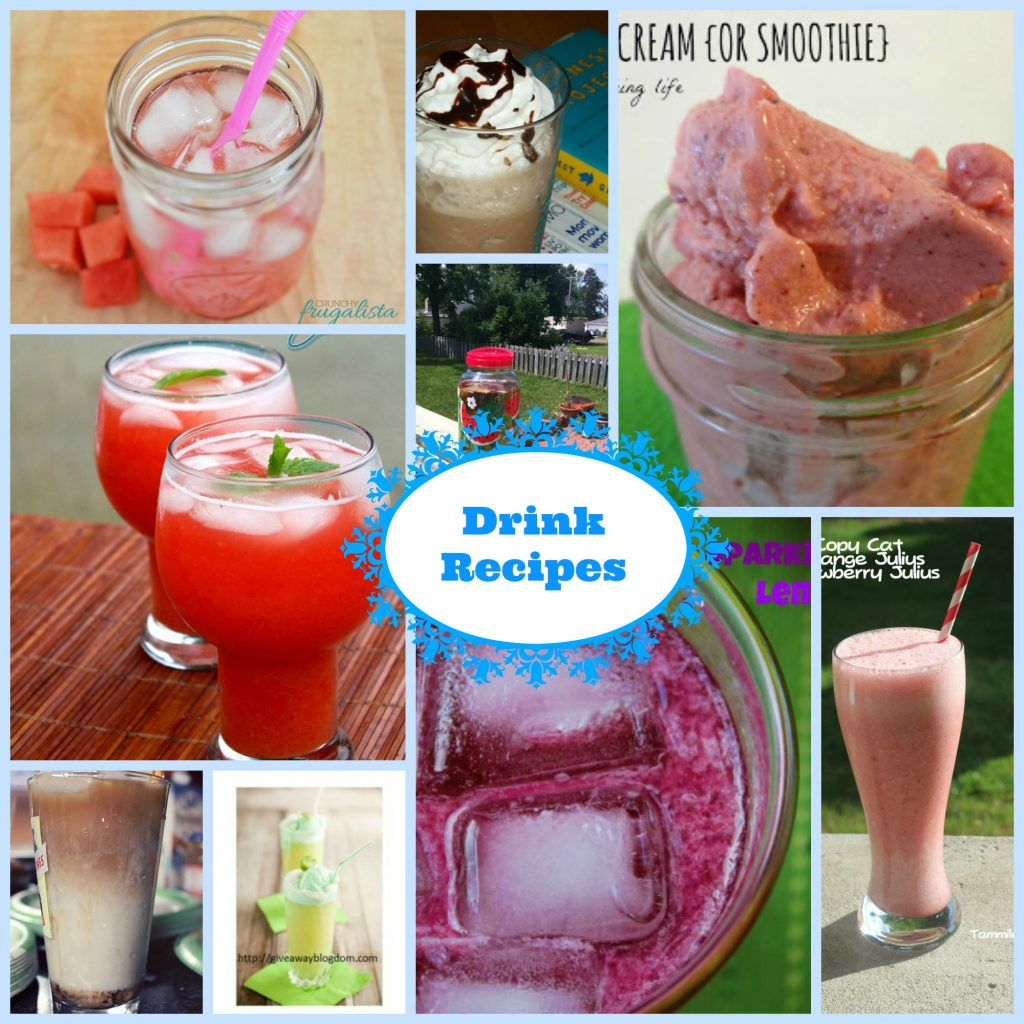 drink recipe collage