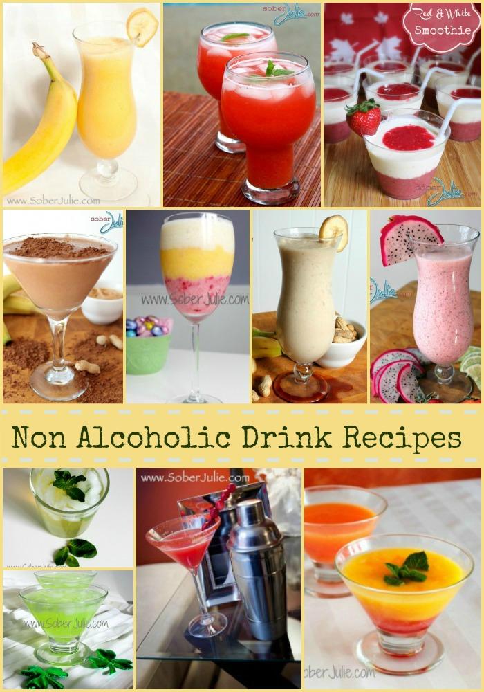10 non Alcoholic Drink Recipes @SoberJulie.com