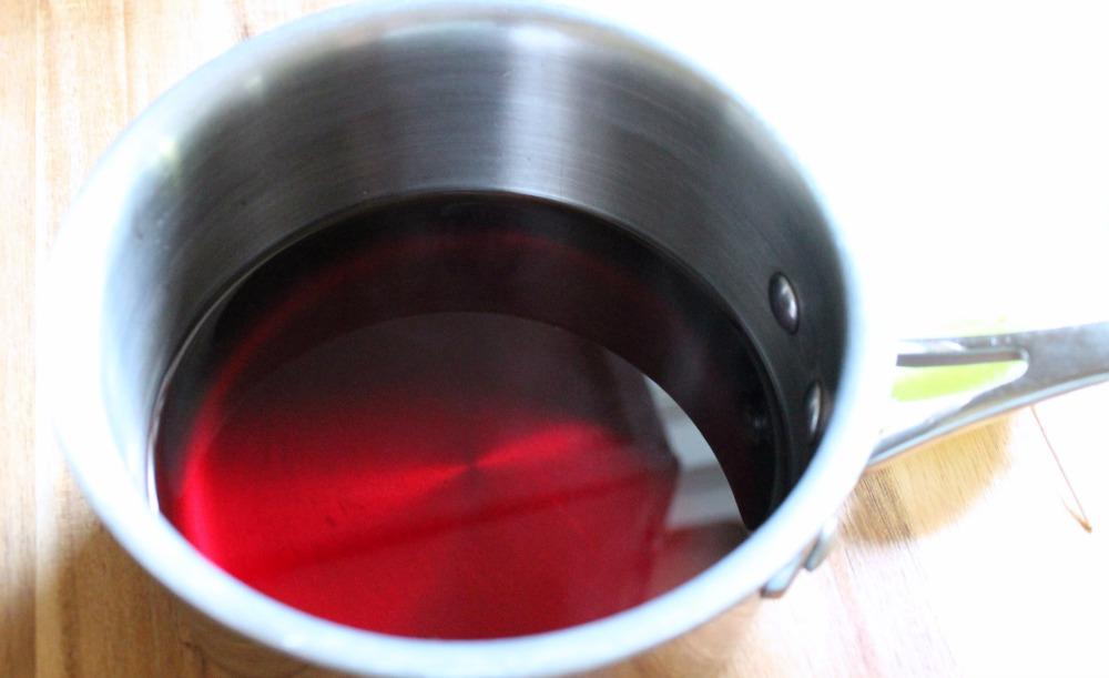 Apple Pomegranate soda reduction