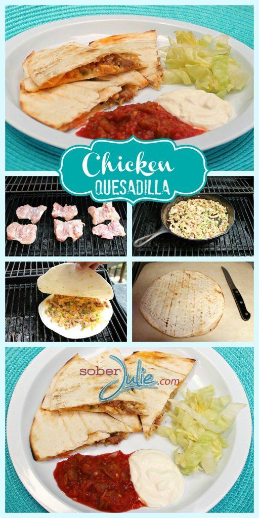 Easy Chicken Recipe Quesadilla Collage