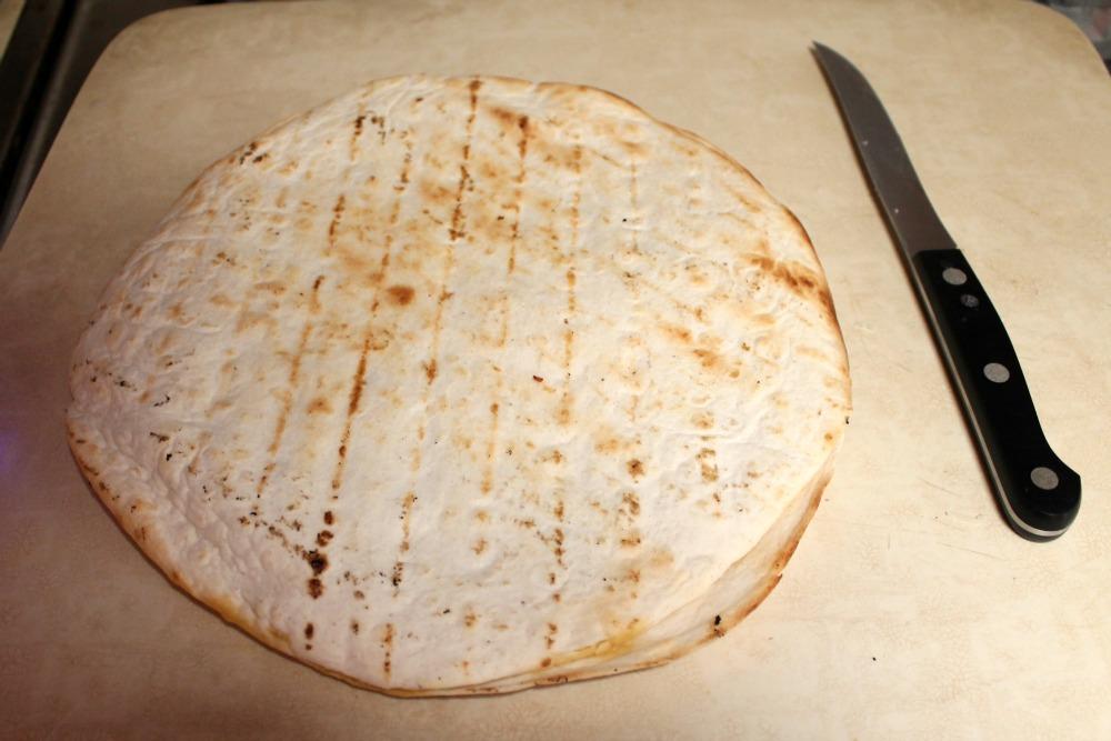 Easy Chicken Recipe Quesadilla before cutting