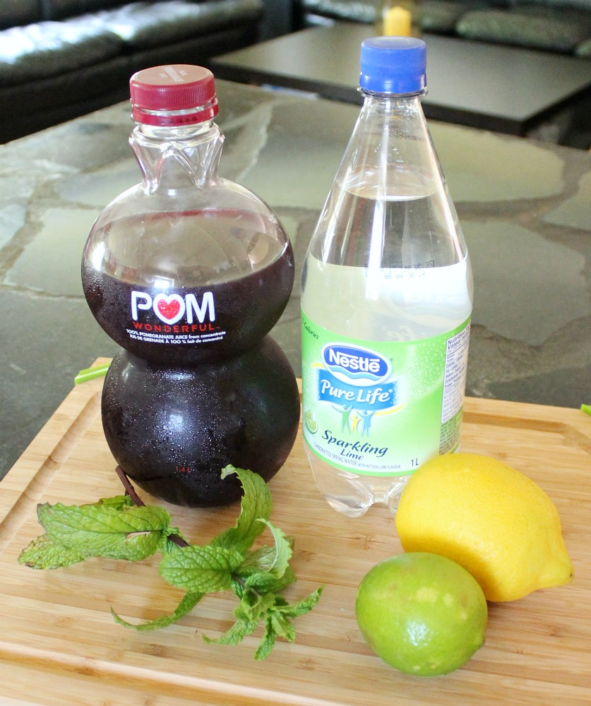 Pomegranate Mojito Mocktail Ingredients