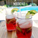 Pomegranate Mojito Mocktail Drink Recipe @SoberJulie.com