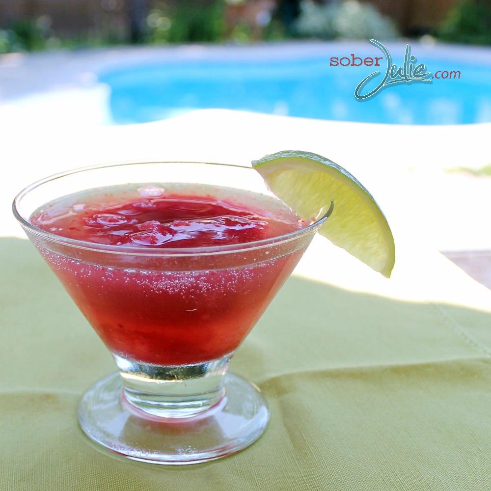Pomegranate Strawberry Sparkler Drink Recipe Square WM