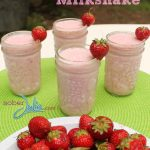 My FAV Easy Strawberry Milkshake Recipe