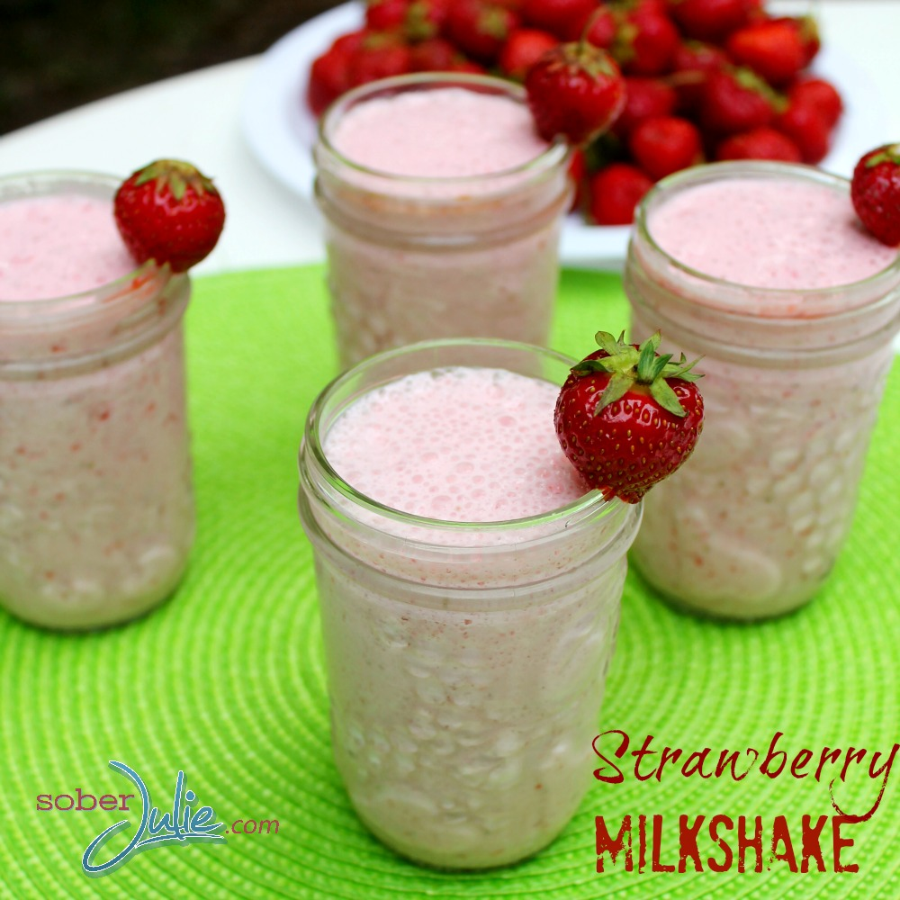 Strawberry Milkshake Recipe Square WM