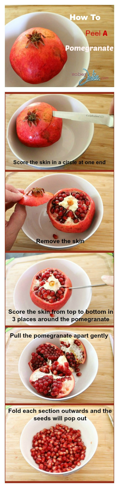 what is a pomegranate & how to peel