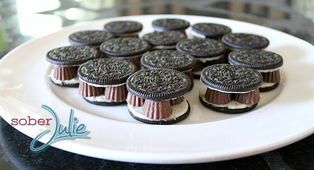 Chocolate Oreo Peanut Butter Cup Madness Tower