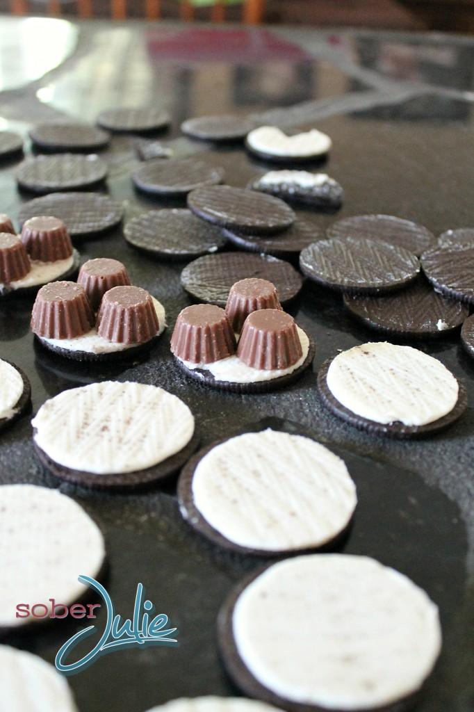 Chocolate Oreo Peanut Butter Madness Preparation