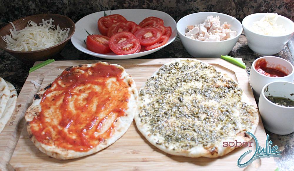 Naan Pizza Preparation #shop