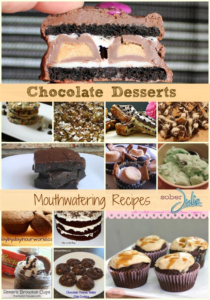chocolate desserts collage