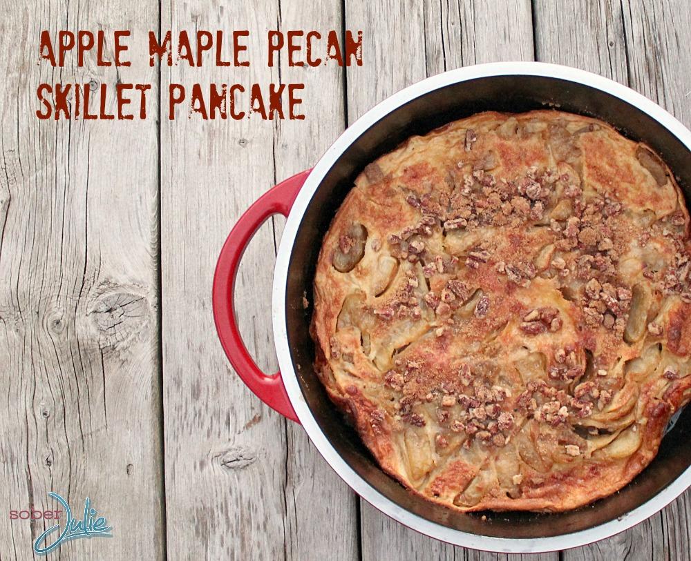 Apple Maple Pecan skillet pancake