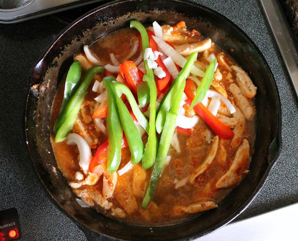 Chicken Fajita in pan