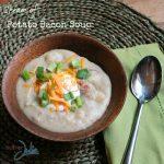 Potato Bacon soup recipe square WM