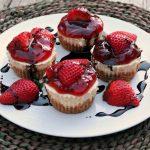 Strawberry Cheesecake Cups Recipe @SoberJuilie.com