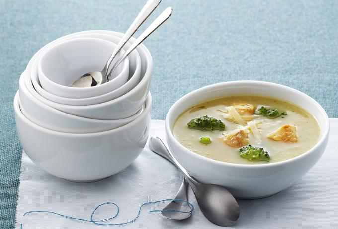 broccoli, potato & chicken soup