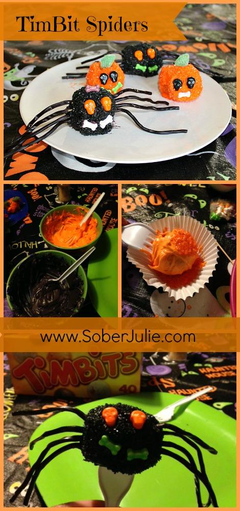 easy halloween dessert collage