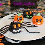 Easy Halloween Dessert – Timbit Spiders