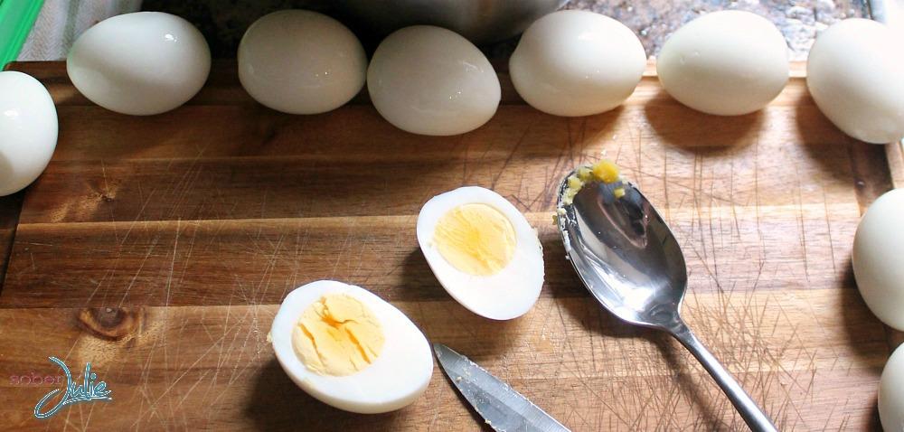 easy to peel hard boiled eggs open