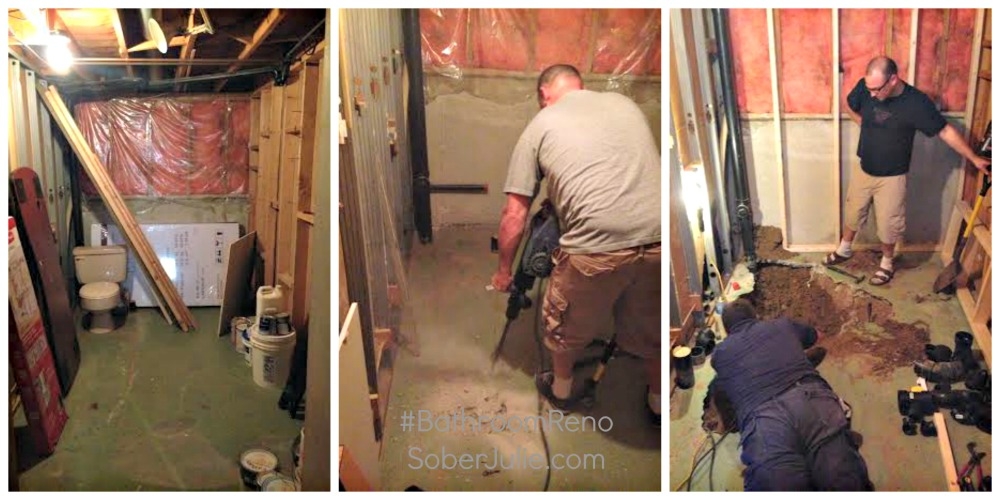 Bathroom Renovation SoberJulie progress