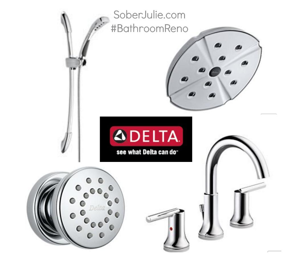 Delta Faucet #BathroomReno
