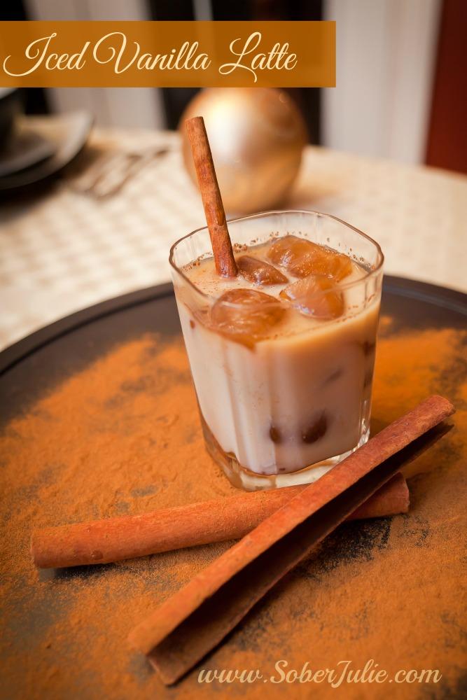 Iced Vanilla Latte SoberJulie.com