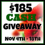 November Cash Giveaway WIN $185