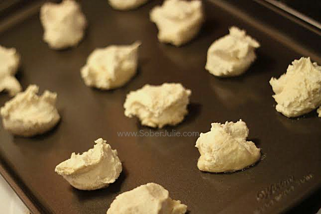 shortbread cookies on tray