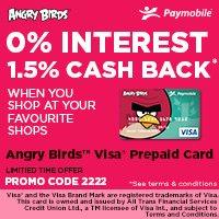 Angry Birds Visa Prepaid Card