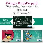 Christmas Shopping with Angry Birds™ Visa® Prepaid Card #AngryBirdsPrepaid Twitter Party