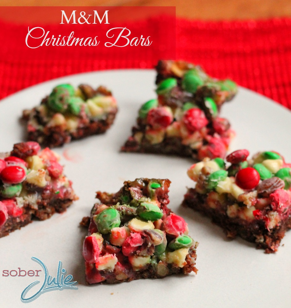 M&M Christmas Bars recipe