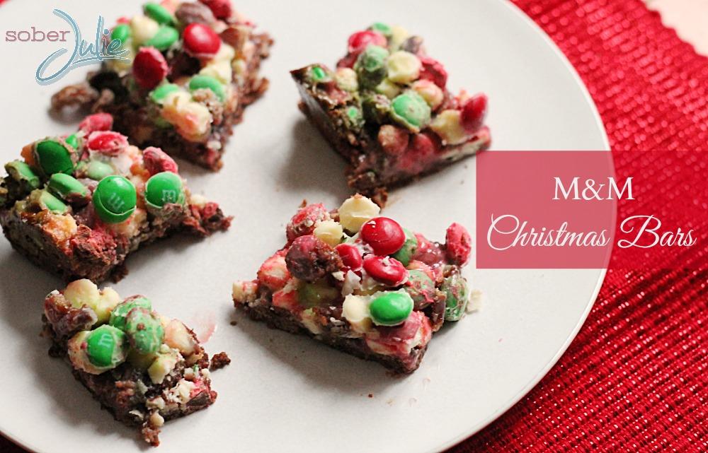 M&M Christmas bards @SoberJulie