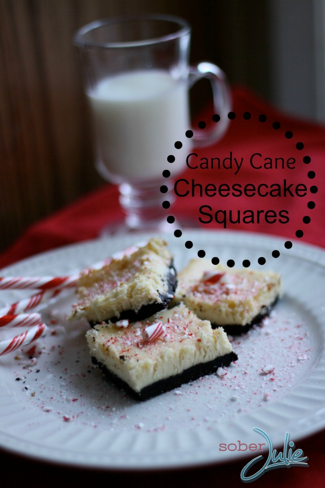 candy cane cheesecake squares