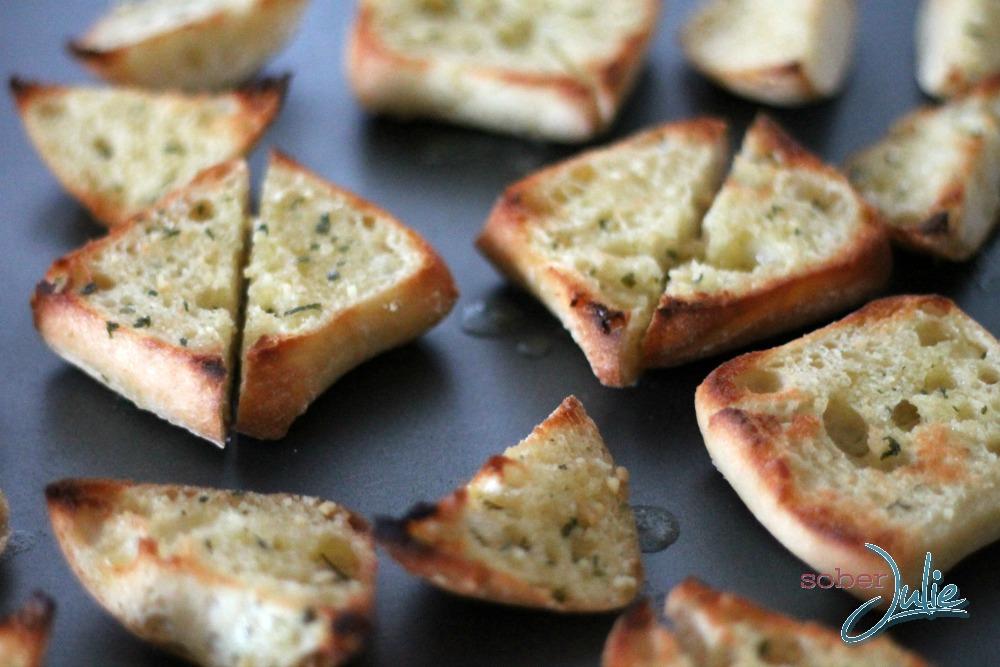 toasted feta bruchetta
