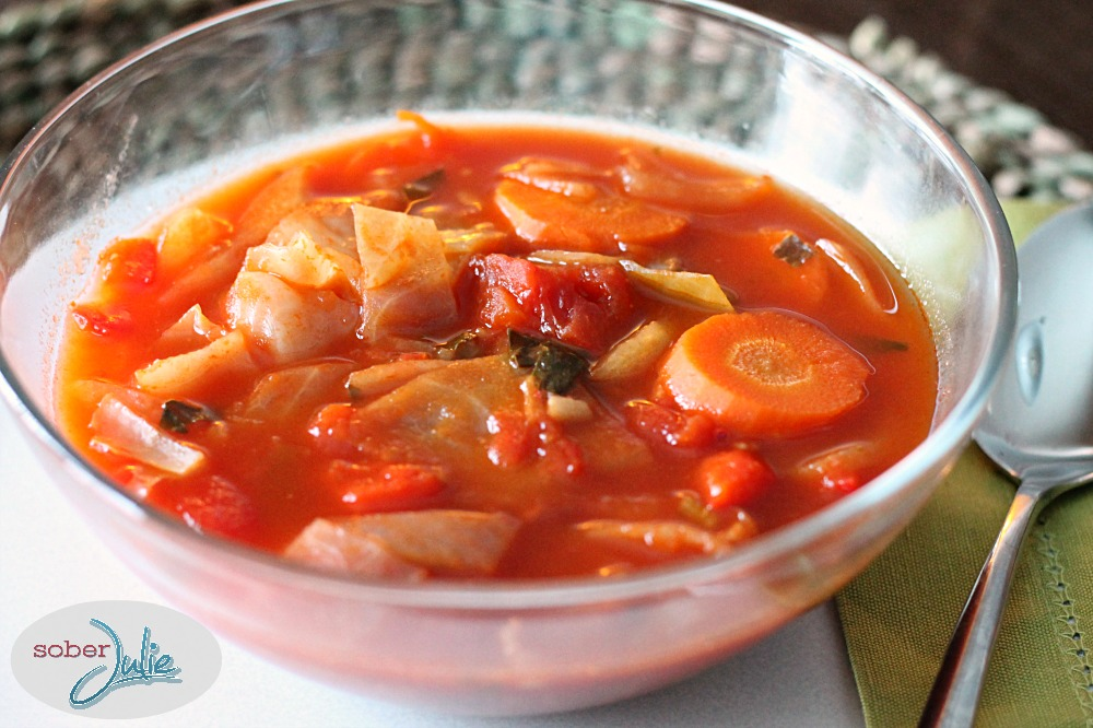 cabbage soup recipe in bowl