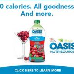 Oasis Nutrisource Contest and Twitter Party #OasisLowCalorie