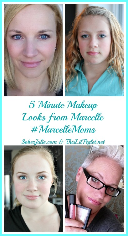 5 minute makeup looks MarcelleMoms
