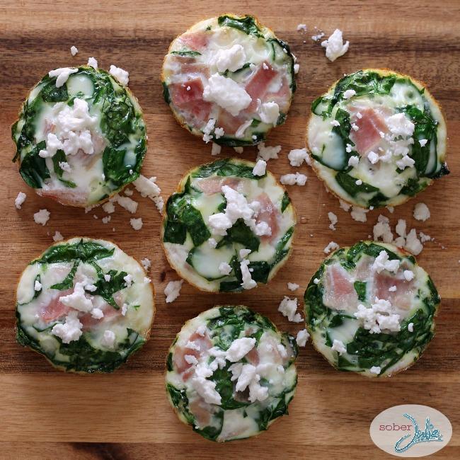Spinach Feta Egg White Cups Recipe