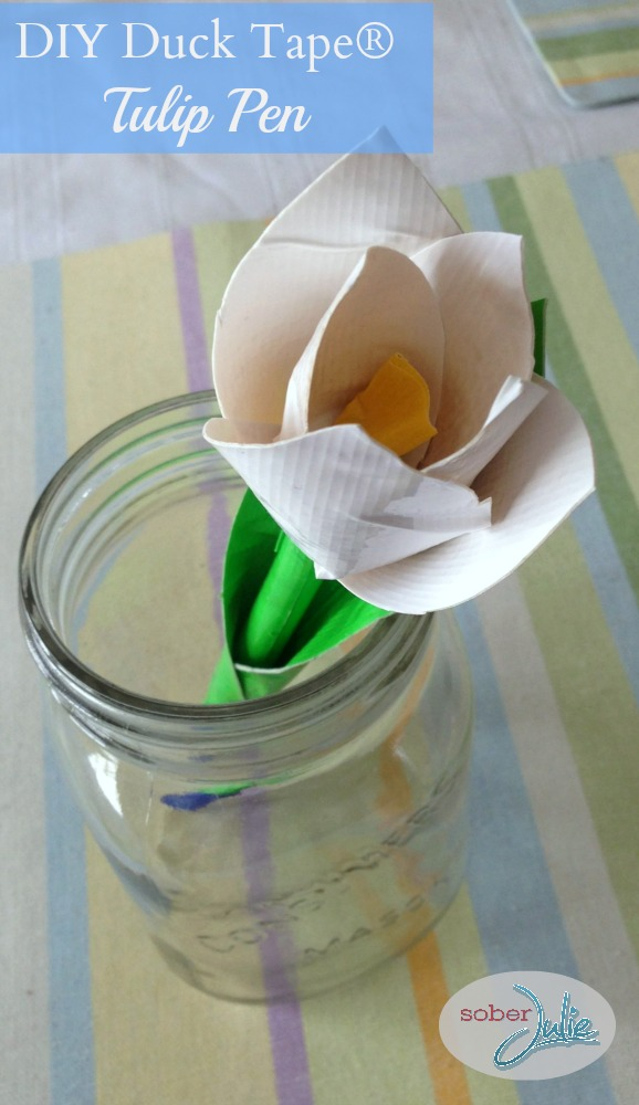 DIY Duck Tape Tulip Pen