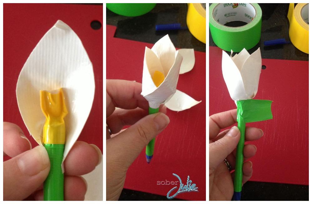Duck Tape Tulip Pen Applying Petals.jpg