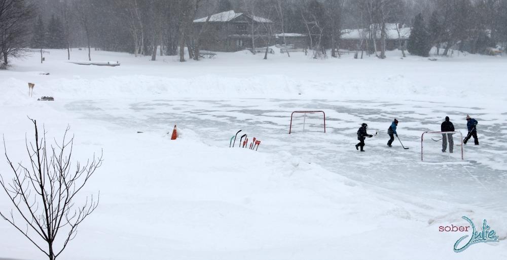 fern resort winter hockey